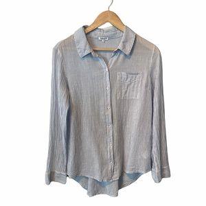Splendid oversized cross back button down shirt XS